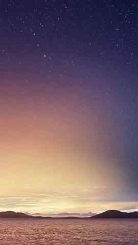 绚丽夜晚星空手机