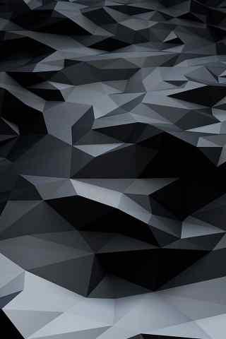 黑色立体菱形方块手机背景图片 - 手机壁纸 - 桌面(.