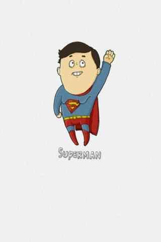 搞笑超人动漫创意手机壁纸
