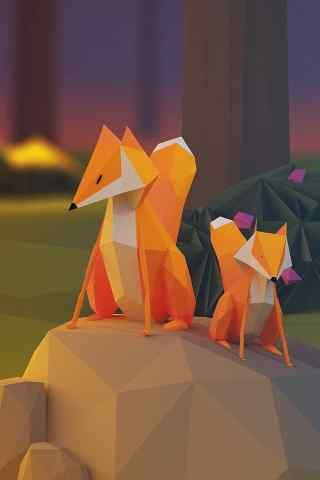 创意折纸狐狸