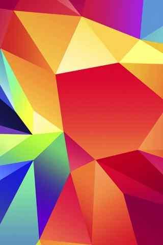 手机炫彩方块创意手机背景