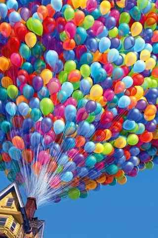 气球飞屋高清手机壁纸图片
