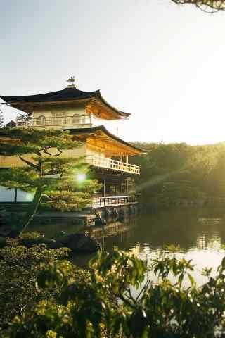 日本金色古代奢華建筑