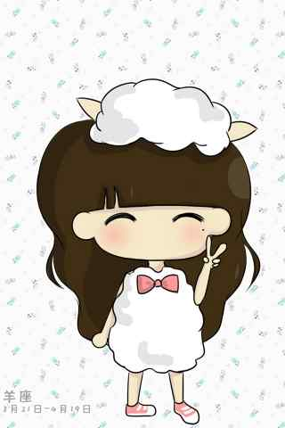 卡通可爱少女星座壁纸之白羊座
