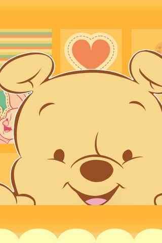 迪士尼维尼熊可爱手机壁纸高清下载