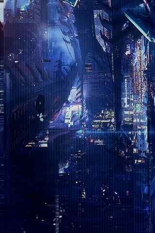 科幻都市场景手机壁纸