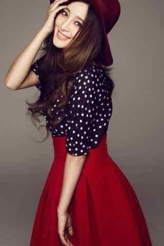 甘婷婷红裙写真安
