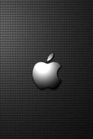 LOGO壁纸系列 苹果LOGO金属质感手机壁纸