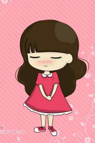卡通可爱少女手机