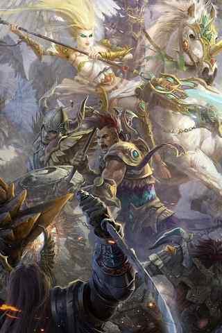 天马行空欧式神话游戏手机壁纸