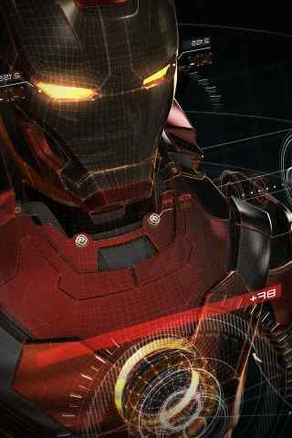 钢铁侠3D建模帅气手机壁纸