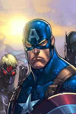 超级英雄美国队长动漫图片
