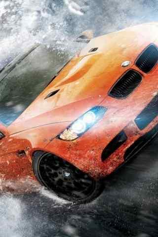 橙色宝马酷炫跑车