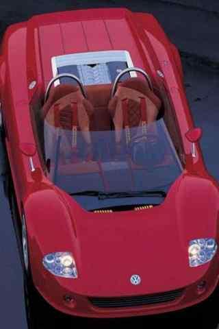 红色概念跑车手机