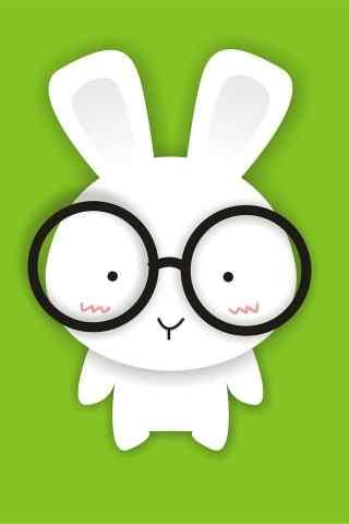 眼镜兔可爱表情高