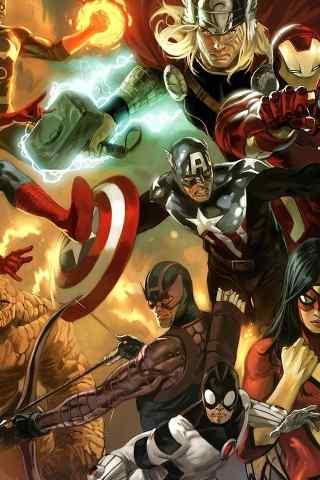 复仇者联盟2超级英雄动漫手机背景下载