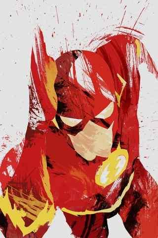 美国英雄超人泼墨风个性壁纸