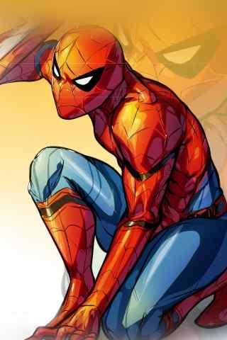 帅气手绘蜘蛛侠手机壁纸下载