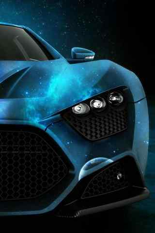 超级跑车蓝色幽魂
