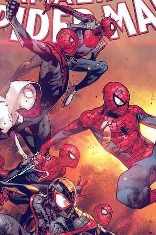 超级英雄蜘蛛侠创意手机壁纸图片