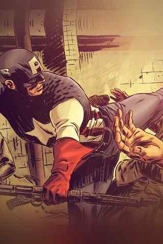 美国队长漫画手绘壁纸