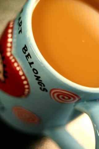 唯美爱心咖啡手机