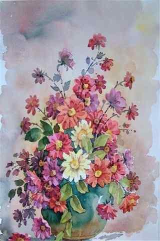 油画花卉创意手机