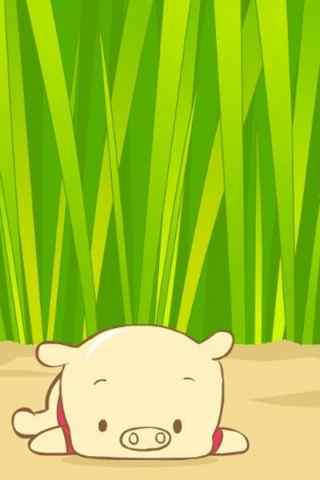 卡通小小可爱猪手