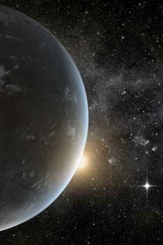 宇宙里的看星球高