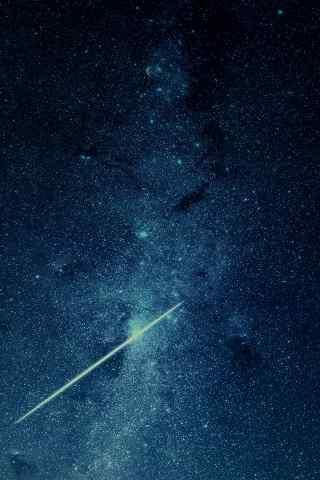 浩瀚蓝色星空玄幻高清苹果手机壁纸图片