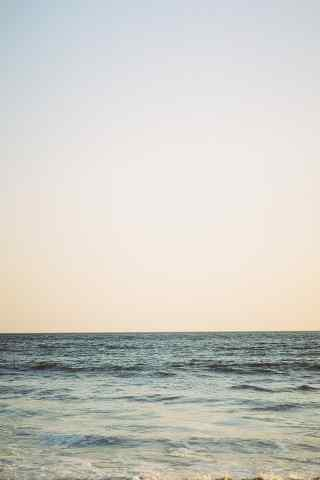 唯美的大海清新手