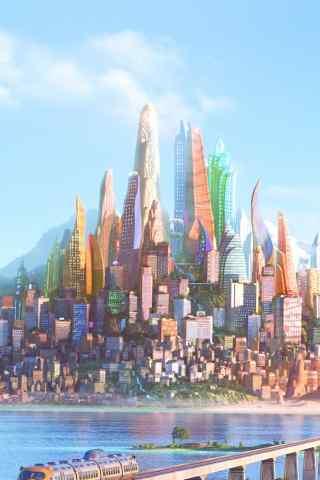 卡通水上城市梦幻