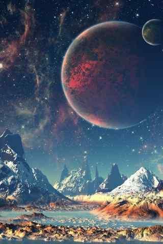 科幻的行星与地球