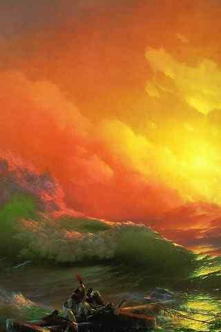 唯美的海洋油画手
