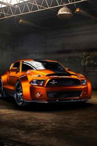 橙色野马GT超级跑