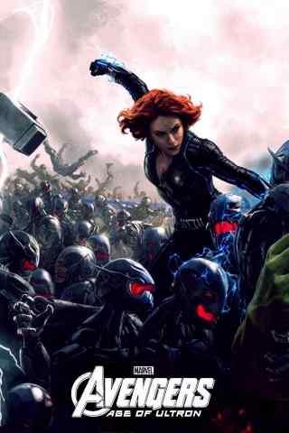 超级美女英雄-黑寡妇-手机壁纸