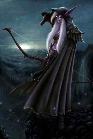 魔兽暗夜精灵英雄