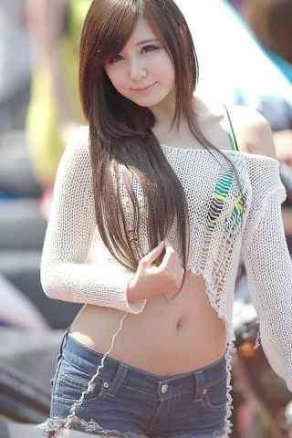韓國美女車模-柳智慧-高清手機壁紙
