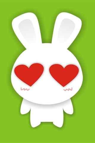 兔表情之爱心兔动