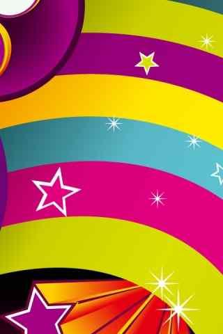 彩虹糖果色高清手机壁纸