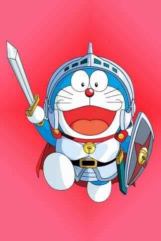 拿着剑的哆啦A梦手机壁纸