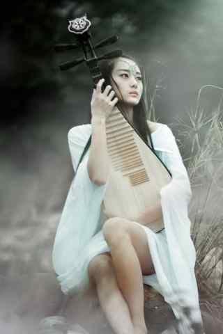 古典美女-犹抱琵琶半遮面-高清手机壁纸下载