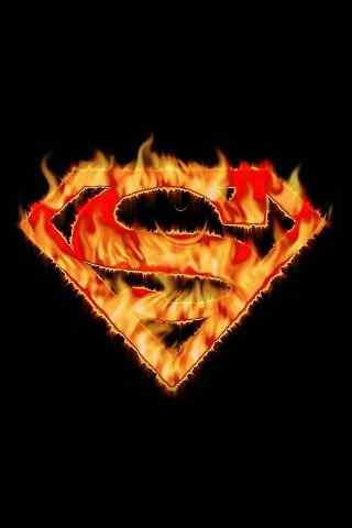 美国动漫《超人》logo手机壁纸 - 手机壁纸 - 桌面(.
