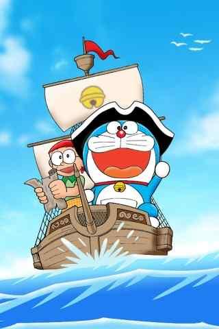 哆啦A梦海盗版手机桌面壁纸