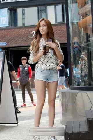 长发韩国美女时尚