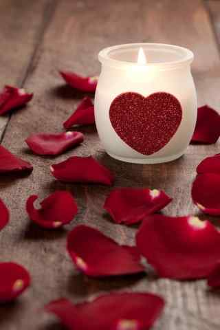 玫瑰 爱心 烛台