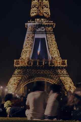 著名法国标志建筑埃菲尔铁塔高清手机壁纸