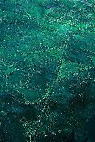 奇幻的地球卫星照