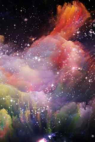 梦幻星空手机背景图片