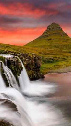 壮观山河自然景象瀑布高清手机壁纸